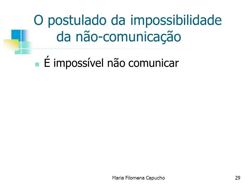 O postulado da impossibilidade da não-comunicação
