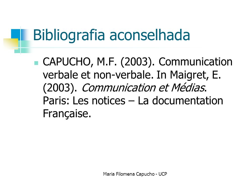 Bibliografia aconselhada