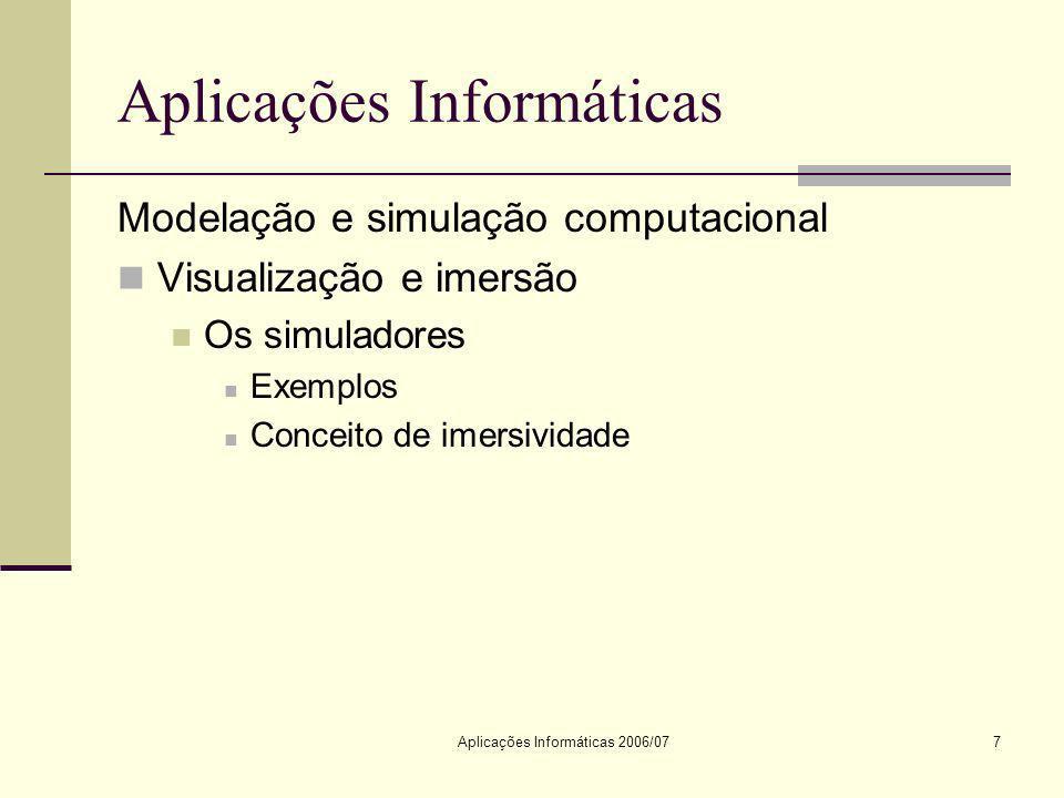 Aplicações Informáticas