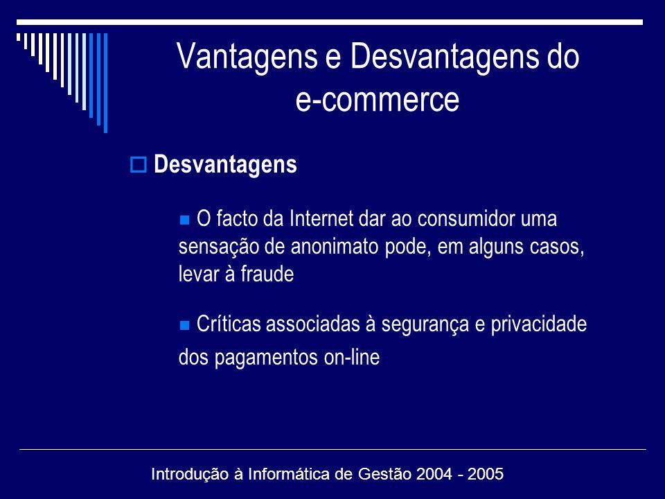 Vantagens e Desvantagens do e-commerce