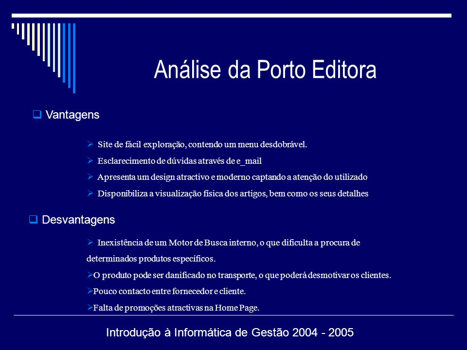 Análise da Porto Editora