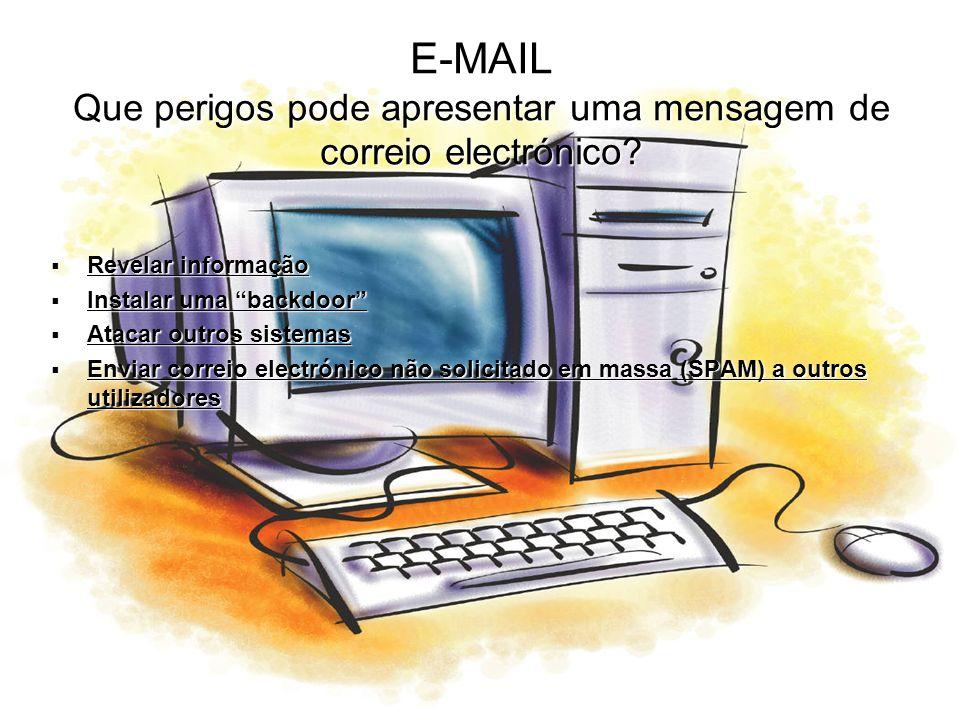 E-MAIL Que perigos pode apresentar uma mensagem de correio electrónico