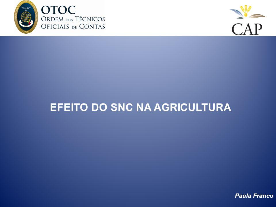 EFEITO DO SNC NA AGRICULTURA