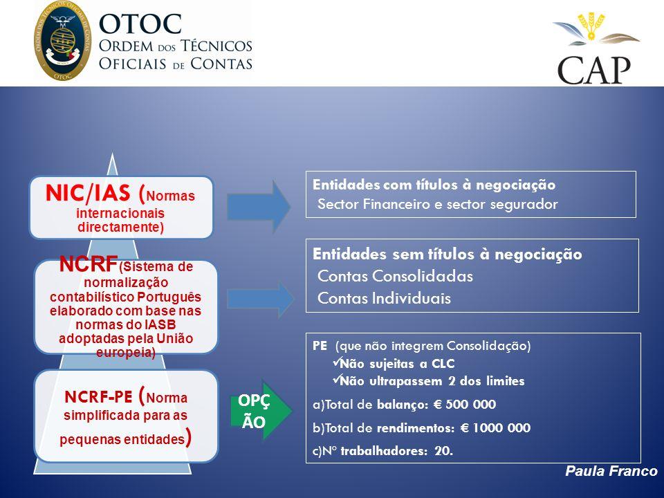 NIC/IAS (Normas internacionais directamente)