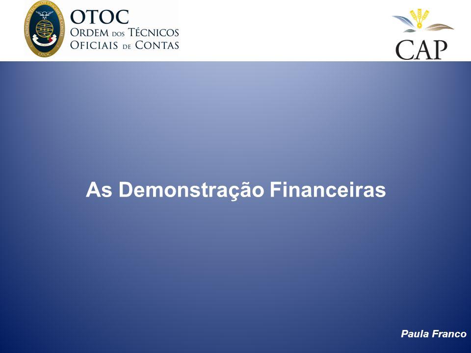 As Demonstração Financeiras