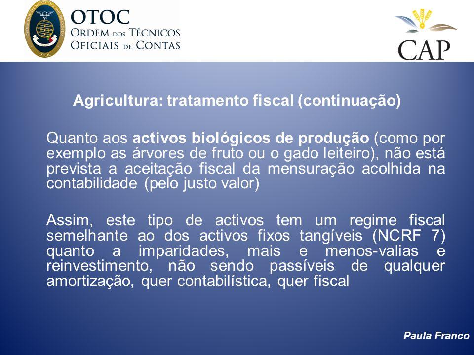 Agricultura: tratamento fiscal (continuação)