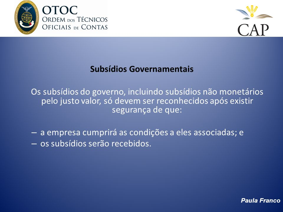 Subsídios Governamentais