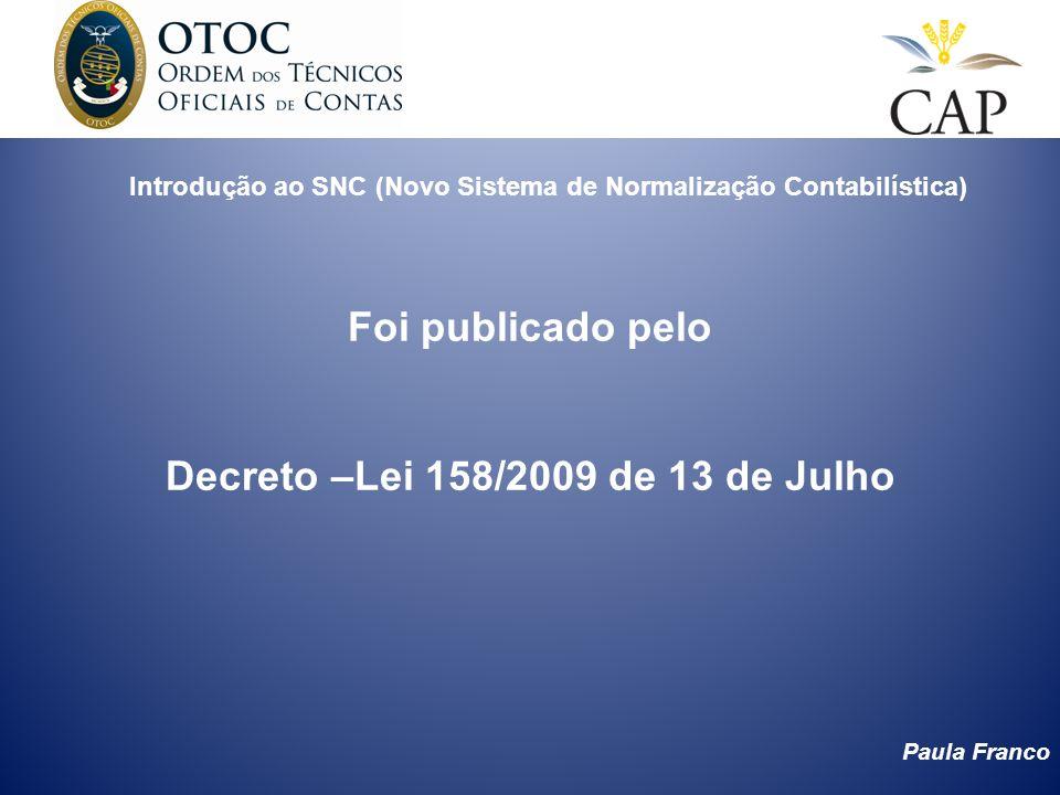 Introdução ao SNC (Novo Sistema de Normalização Contabilística)