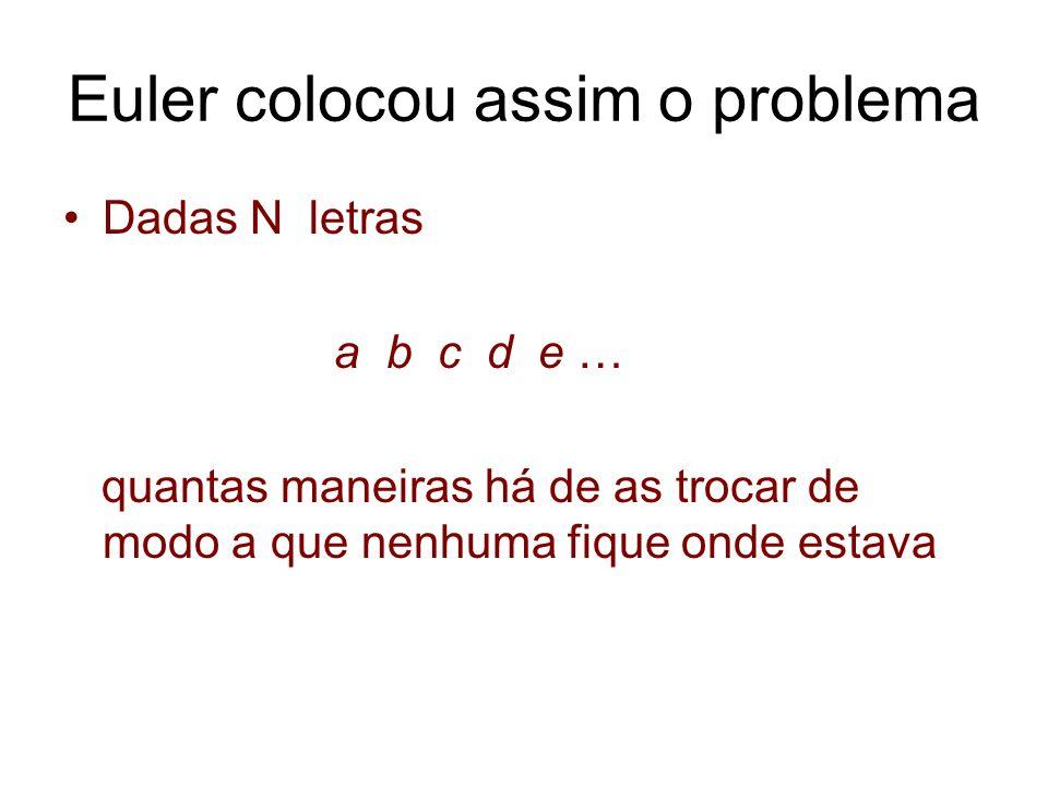 Euler colocou assim o problema