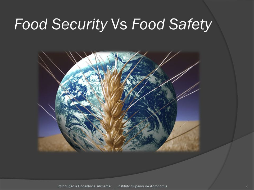 Food Security Vs Food Safety