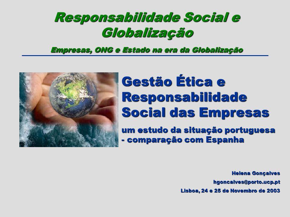 Gestão Ética e Responsabilidade Social das Empresas