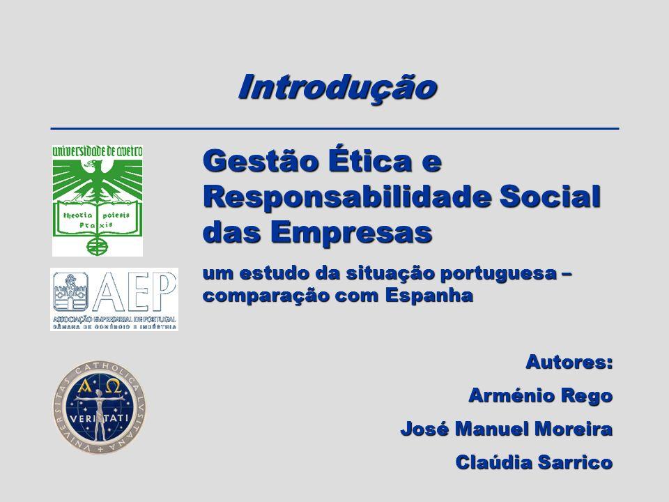 Introdução Gestão Ética e Responsabilidade Social das Empresas
