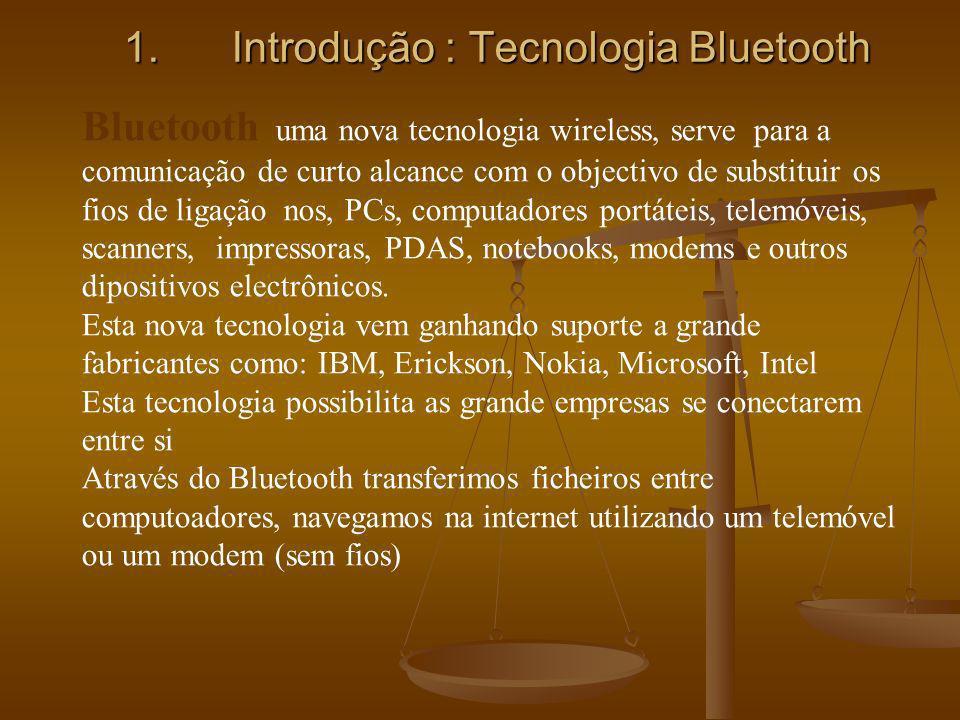 Introdução : Tecnologia Bluetooth