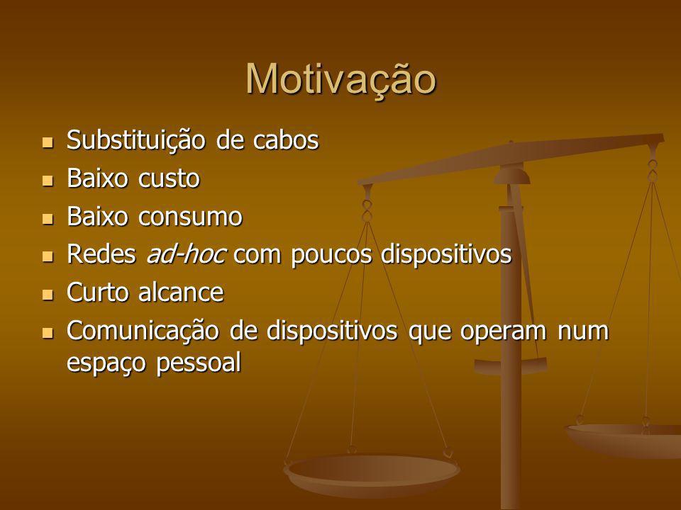 Motivação Substituição de cabos Baixo custo Baixo consumo