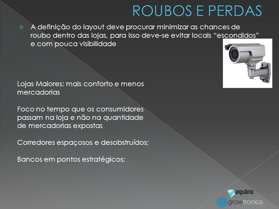 ROUBOS E PERDAS