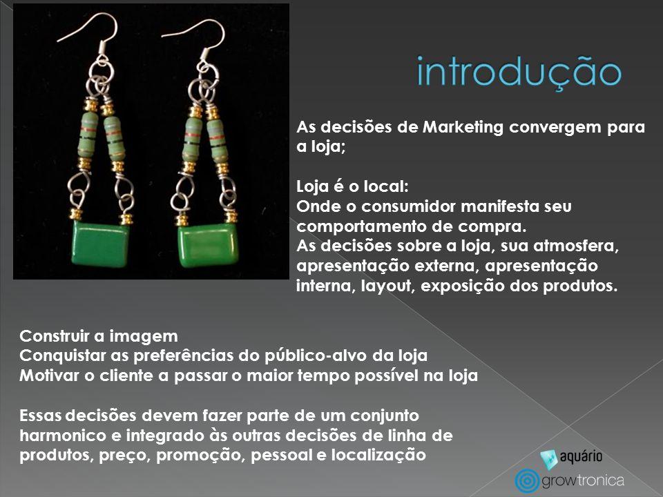 introdução As decisões de Marketing convergem para a loja;
