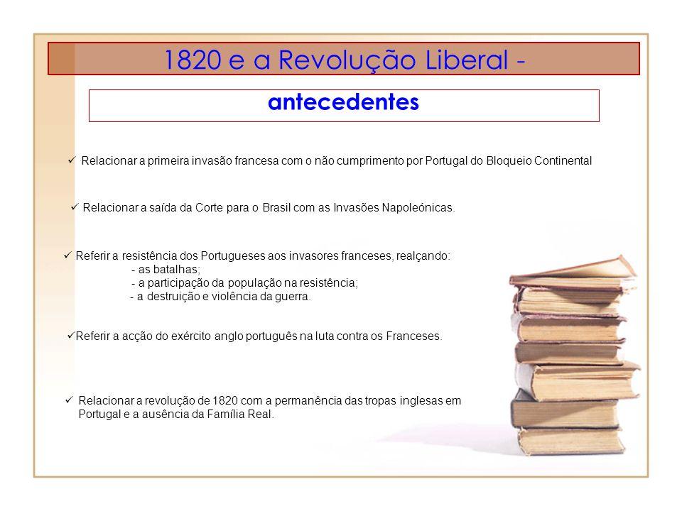 1820 e a Revolução Liberal - antecedentes