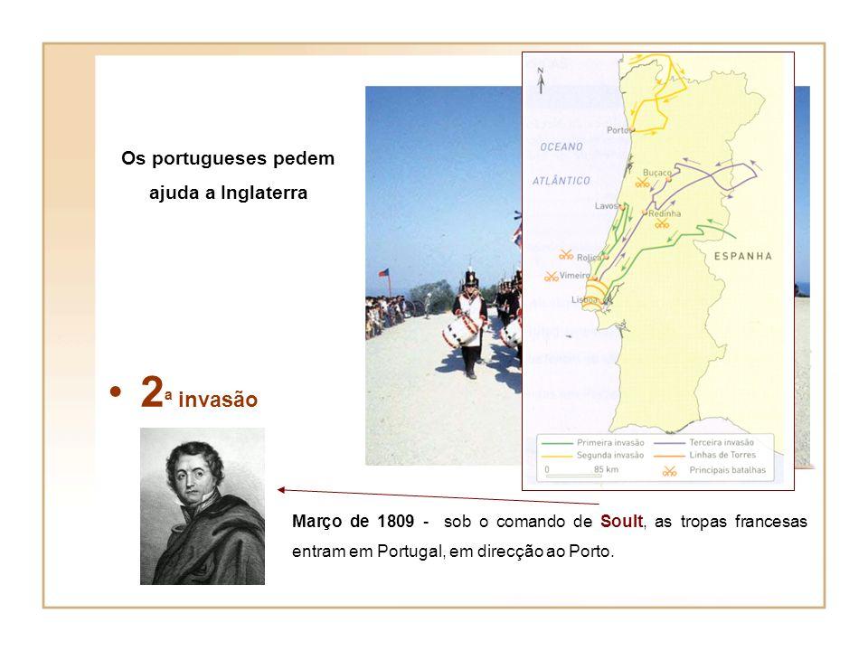 Os portugueses pedem ajuda a Inglaterra