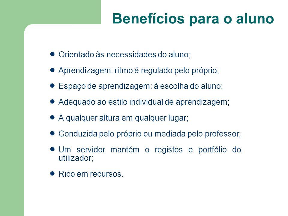 Benefícios para o aluno
