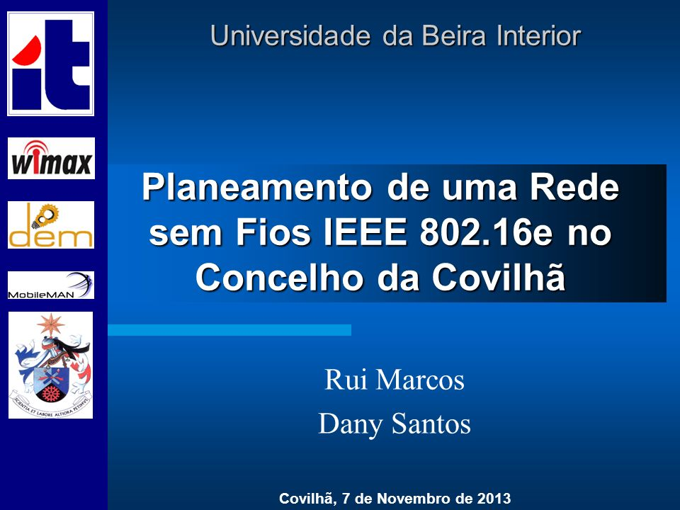 Planeamento de uma Rede sem Fios IEEE 802.16e no Concelho da Covilhã