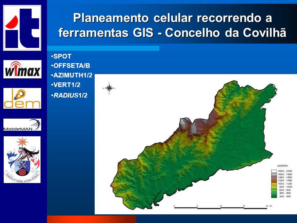 Planeamento celular recorrendo a ferramentas GIS - Concelho da Covilhã