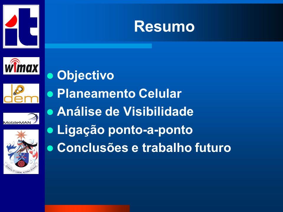 Resumo Objectivo Planeamento Celular Análise de Visibilidade