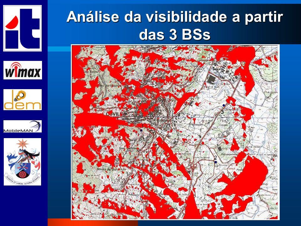 Análise da visibilidade a partir das 3 BSs