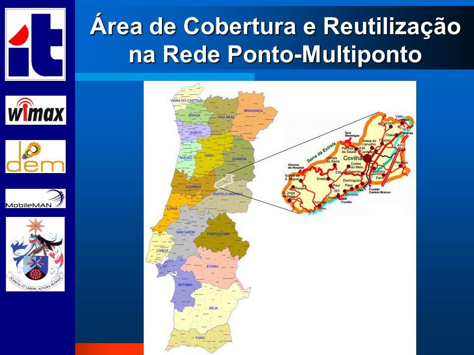 Área de Cobertura e Reutilização na Rede Ponto-Multiponto