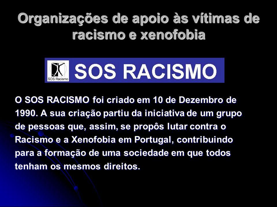 Organizações de apoio às vítimas de racismo e xenofobia