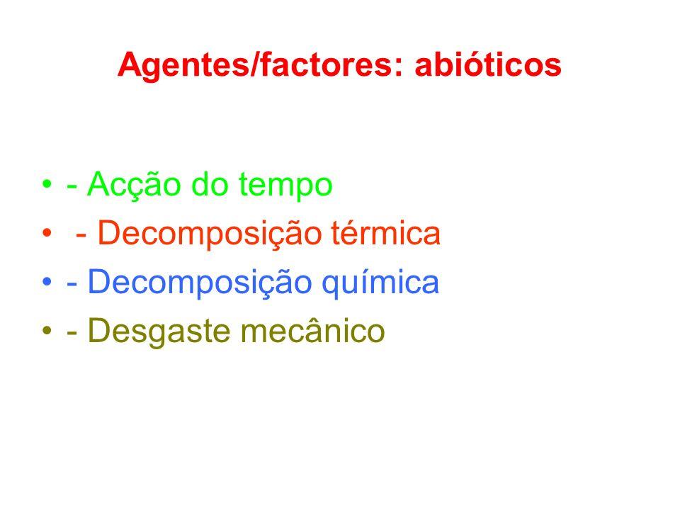 Agentes/factores: abióticos