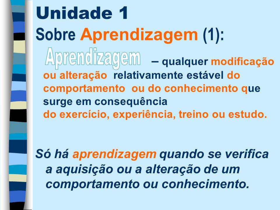 Unidade 1 Sobre Aprendizagem (1):