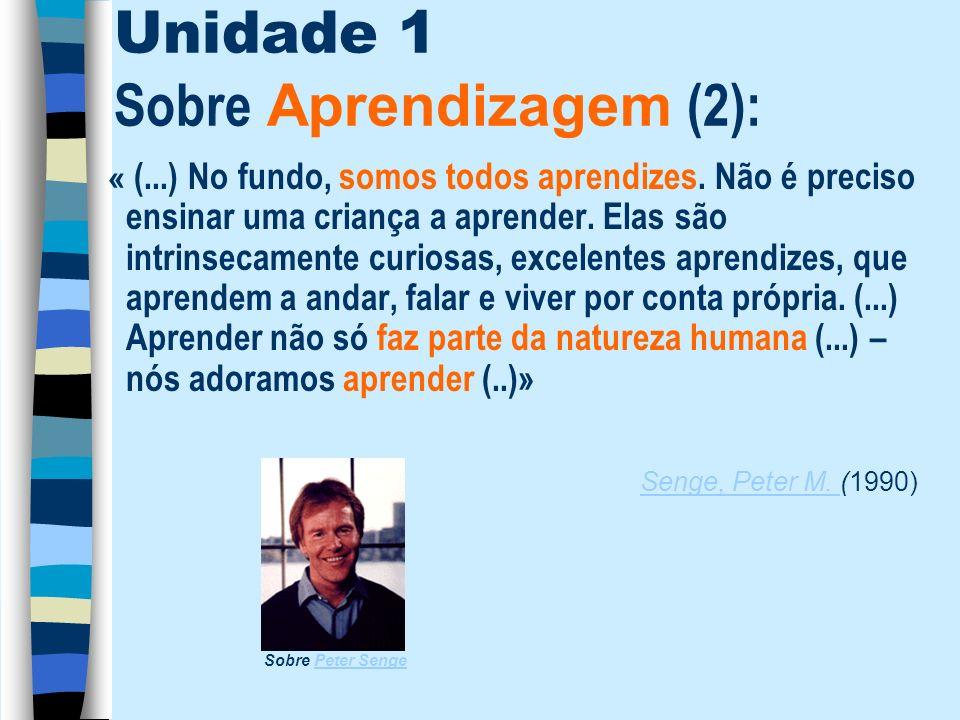 Unidade 1 Sobre Aprendizagem (2):