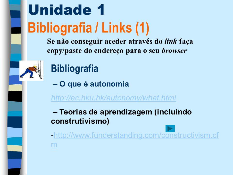 Unidade 1 Bibliografia / Links (1)