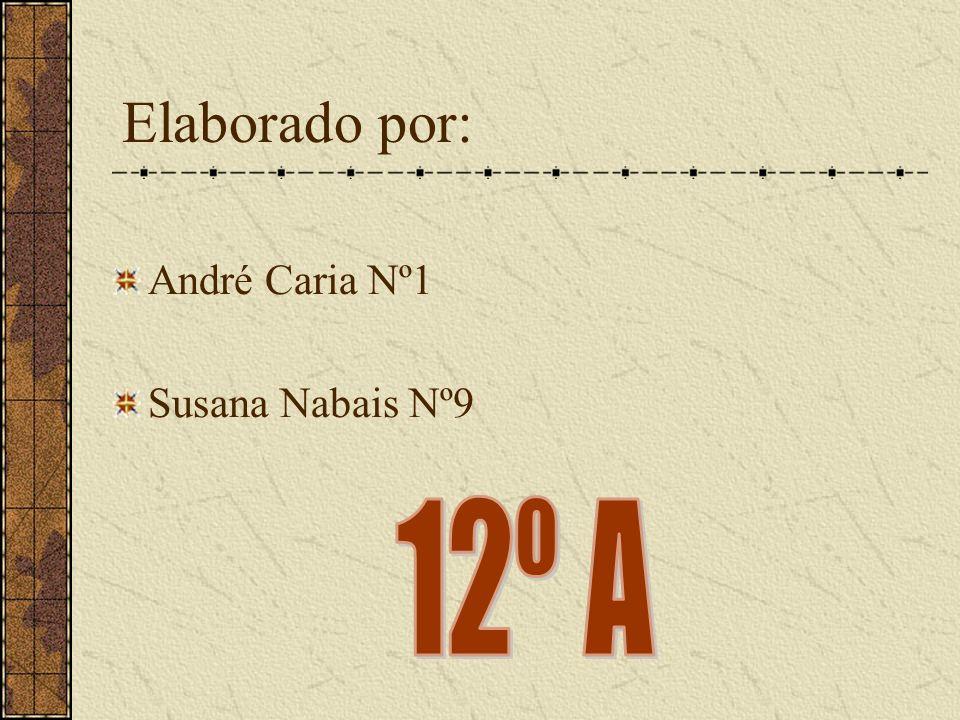 Elaborado por: André Caria Nº1 Susana Nabais Nº9 12º A