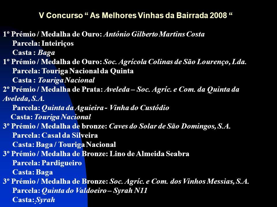 V Concurso As Melhores Vinhas da Bairrada 2008