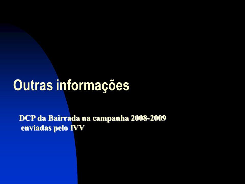 Outras informações DCP da Bairrada na campanha 2008-2009