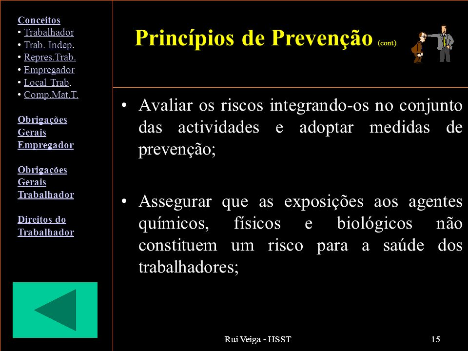 Princípios de Prevenção (cont)