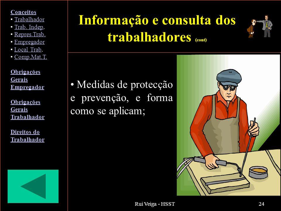 Informação e consulta dos trabalhadores (cont)