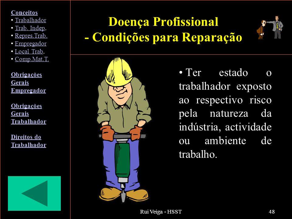 Doença Profissional - Condições para Reparação