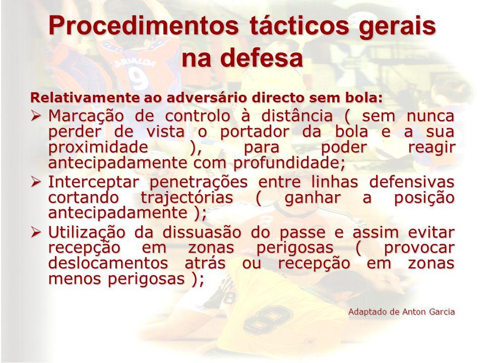 Procedimentos tácticos gerais na defesa