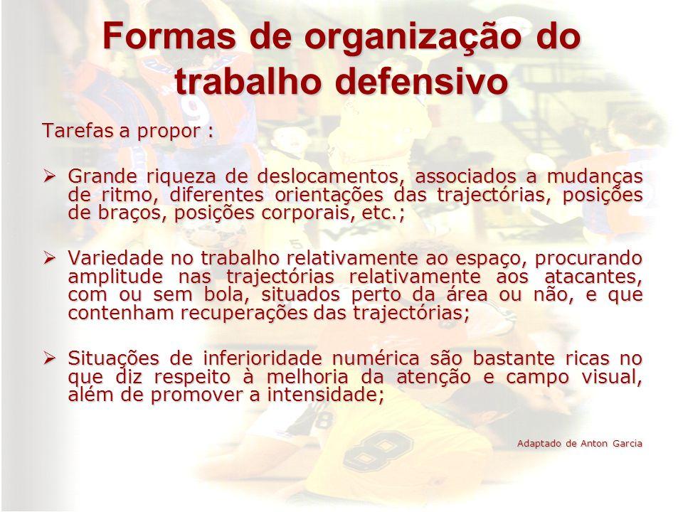 Formas de organização do trabalho defensivo