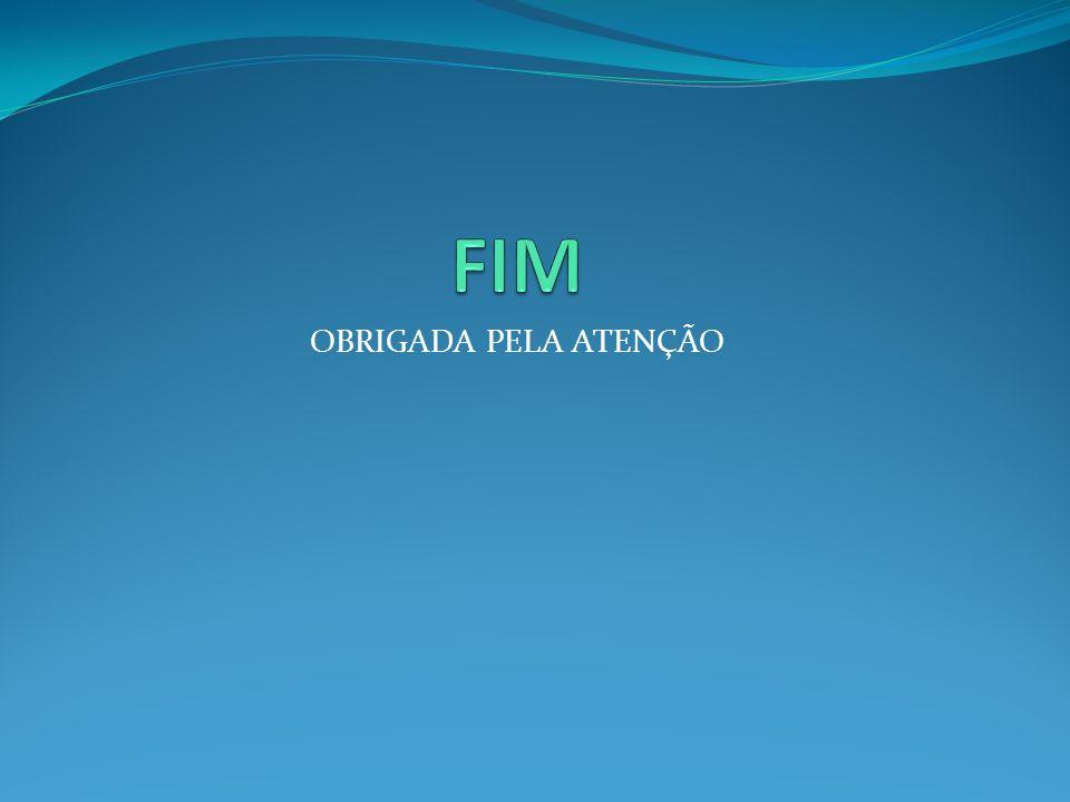FIM OBRIGADA PELA ATENÇÃO