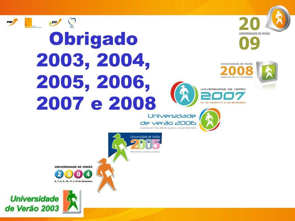 Obrigado 2003, 2004, 2005, 2006, 2007 e 2008