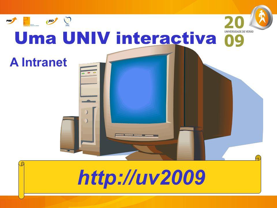 Uma UNIV interactiva A Intranet http://uv2009