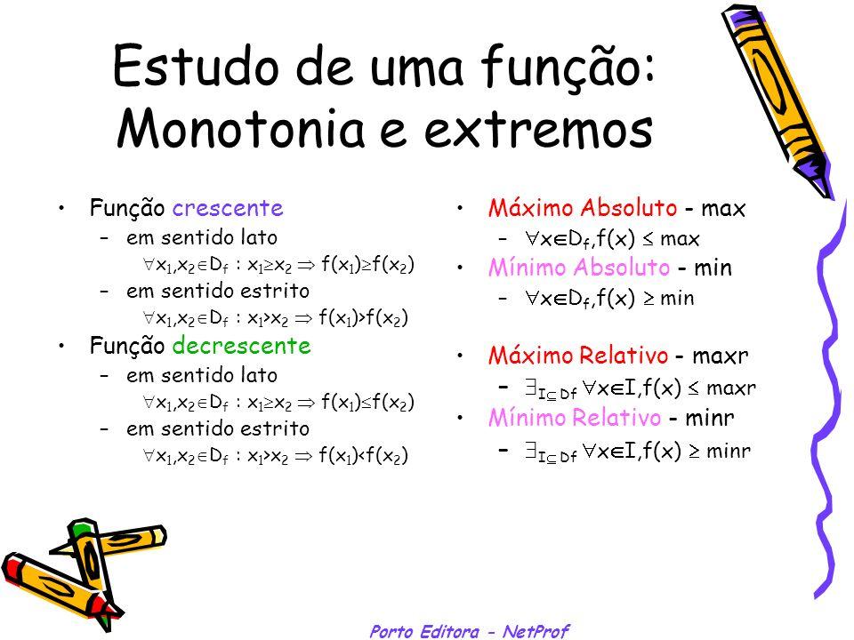 Estudo de uma função: Monotonia e extremos