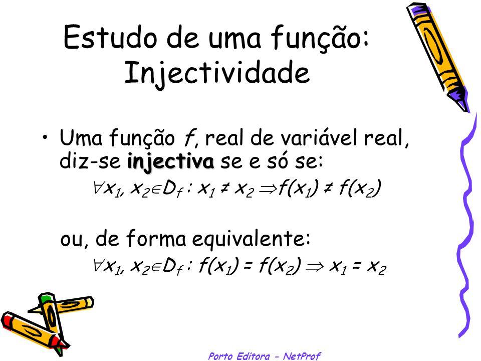 Estudo de uma função: Injectividade