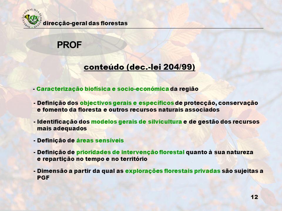 PROF conteúdo (dec.-lei 204/99)