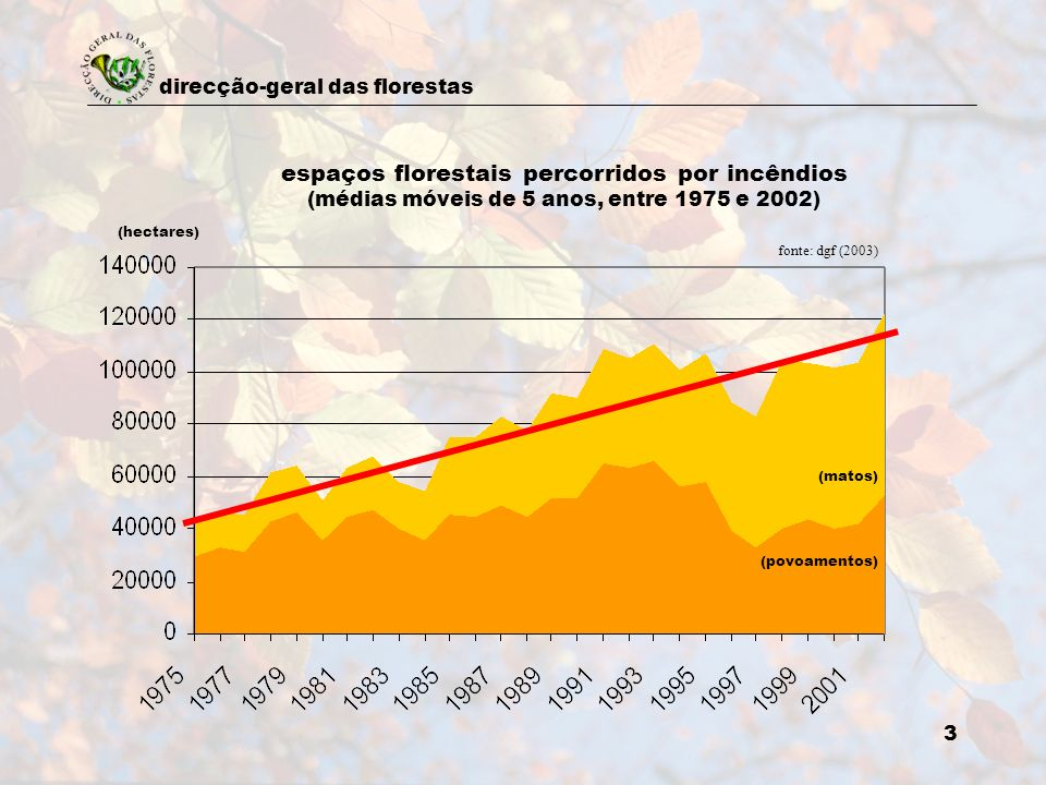 espaços florestais percorridos por incêndios