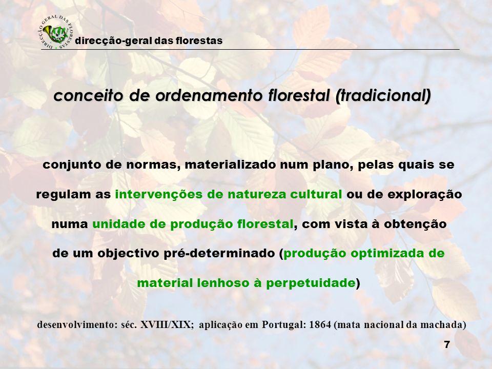 conceito de ordenamento florestal (tradicional)