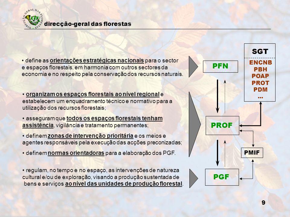SGT define as orientações estratégicas nacionais para o sector. e espaços florestais, em harmonia com outros sectores da.
